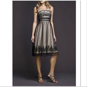 David's Bridal strapless dress size 6